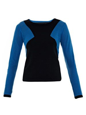 Carla contrast-sleeve sweater