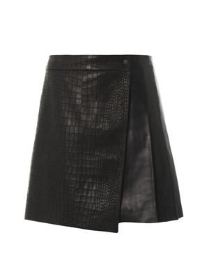 Edburg textured leather skirt