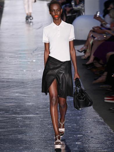Rag & Bone Edburg textured leather skirt