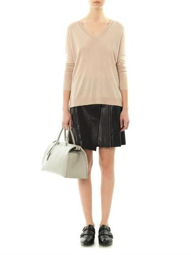 Rag & Bone Edburg textured leather skirt