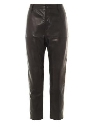 Carpenter leather trousers