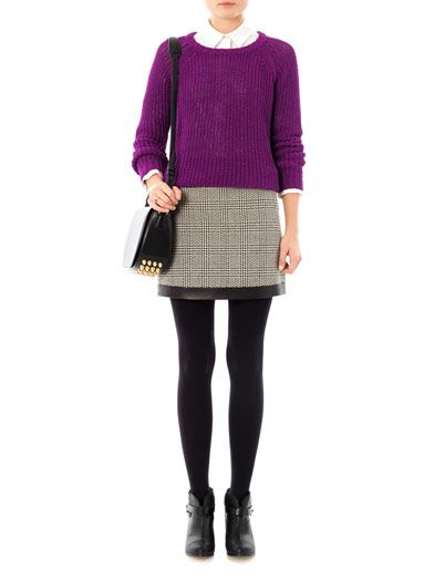 Rag & Bone Kensington houndstooth skirt