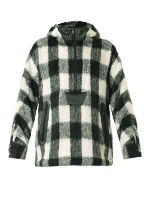 Falkland checked hooded parka