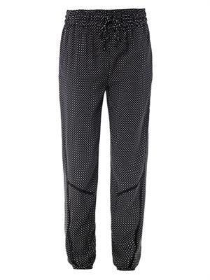 Gina star-print silk trousers