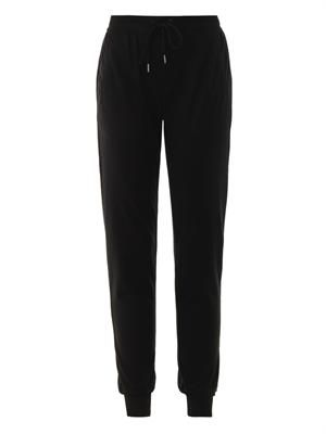 Lena wool-jersey track pants