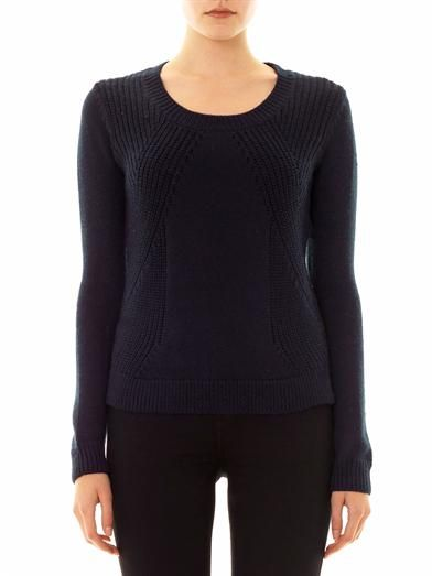 Rag & Bone Camron engineered knit sweater