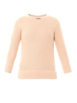 Rita crew-neck textured-knit sweater