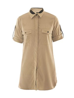 Midnight silk safari shirt