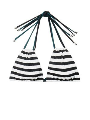 Zeke striped bikini top