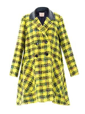 Elwood giant plaid tweed coat