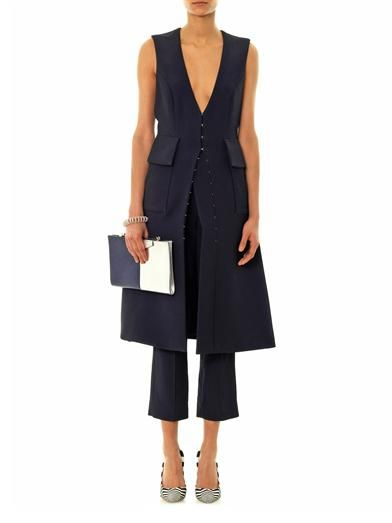 Roksanda Ilincic Tatum sleeveless dress coat