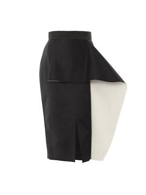Balmont bi-colour pencil skirt