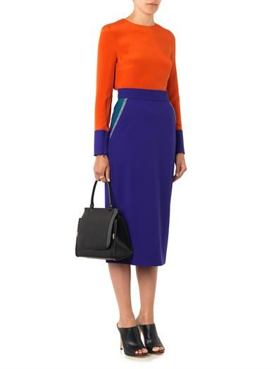 Roksanda Arwen stretch-wool midi pencil skirt