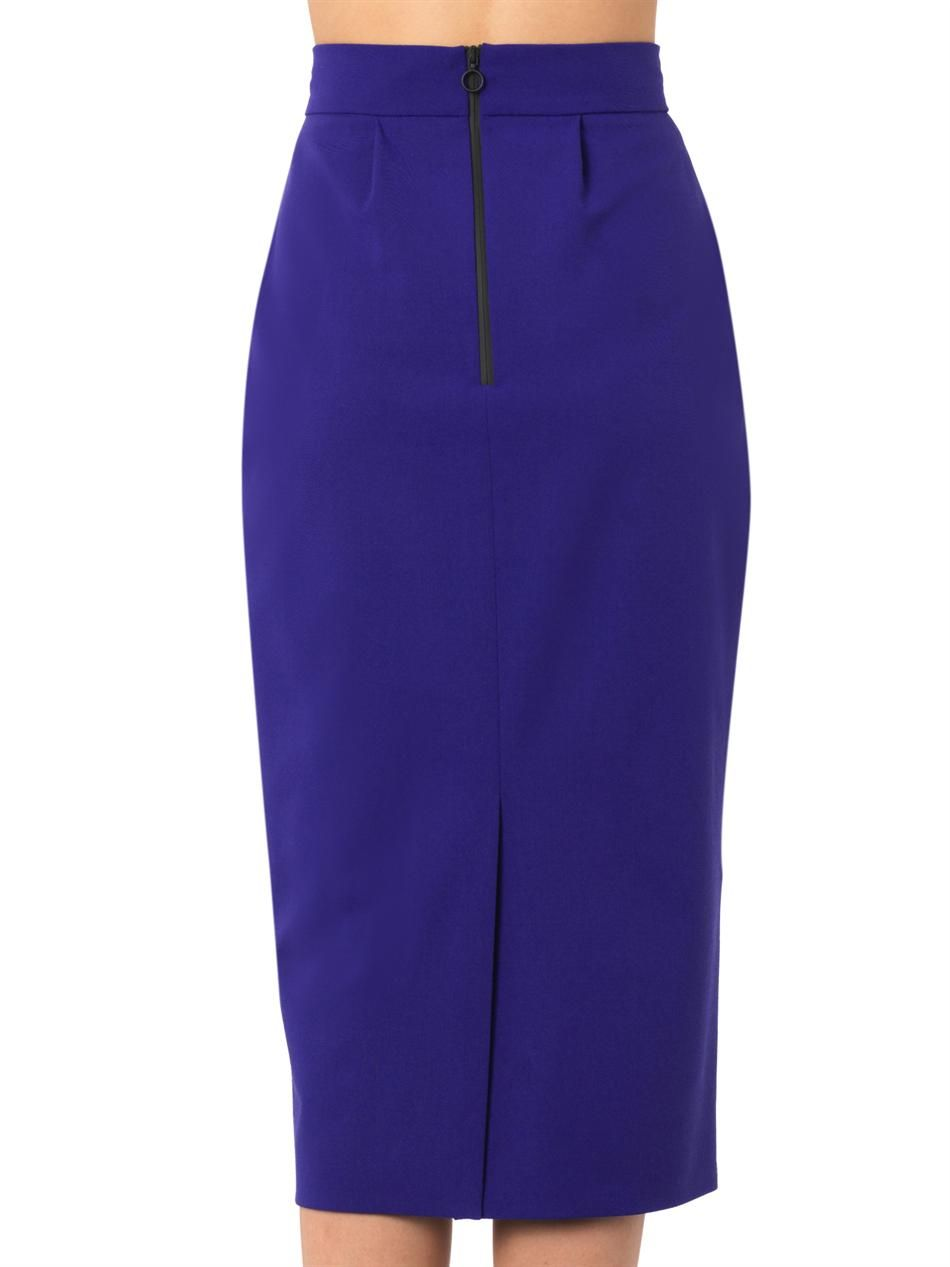 arwen stretch wool midi pencil skirt roksanda