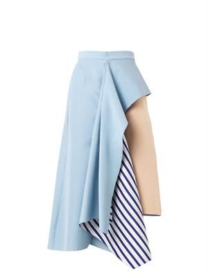 Langston asymmetric ruffle skirt