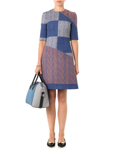 Roksanda Harlan patchwork herringbone dress