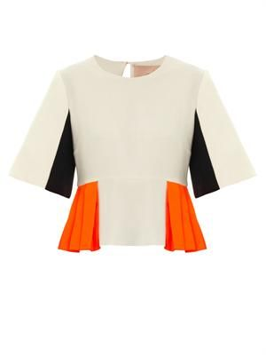 Auden colour-block peplum top