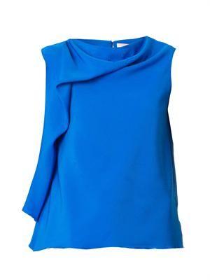 Kenyan drape-front blouse