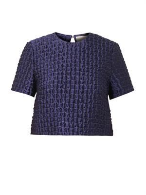 Roelle quilted jacquard top