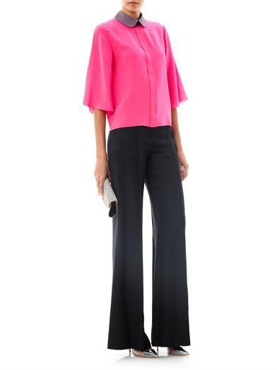Roksanda Hunter contrast collar silk blouse