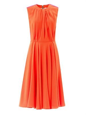 Sessler draped front dress
