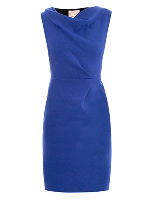 Amu cowl-neck dress