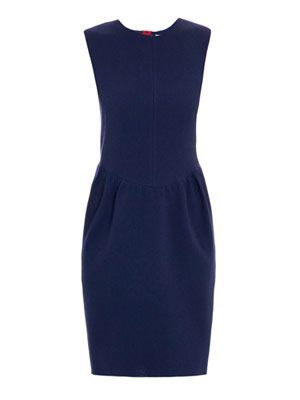 Pemberton double-crepe dress