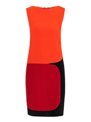 Bauman tri-colour crepe dress