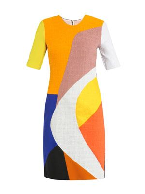Kendricks multi-panel fitted dress