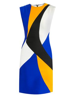 Auster lapis fitted dress