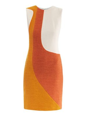 Brette tri-colour shift dress
