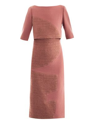 Ronstadt wool-crepe dress