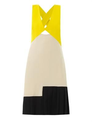 Eylia colour-block dress