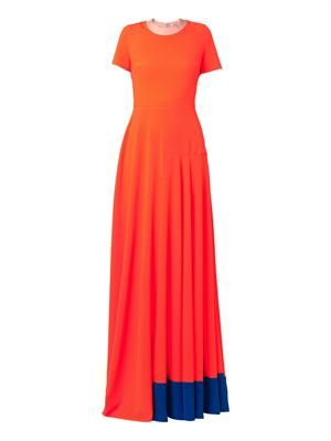 Orla contrast-panel gown