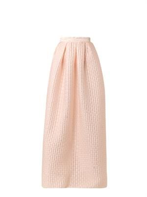 Roelle textured-satin skirt