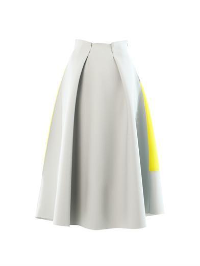 Roksanda Whiston rubber and crepe midi skirt