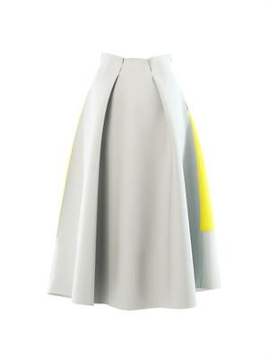 Whiston rubber and crepe midi skirt