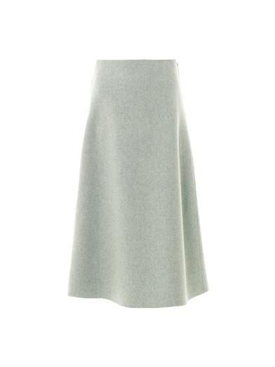 Roksanda Devan melange-wool midi skirt