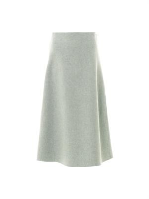Devan melange-wool midi skirt