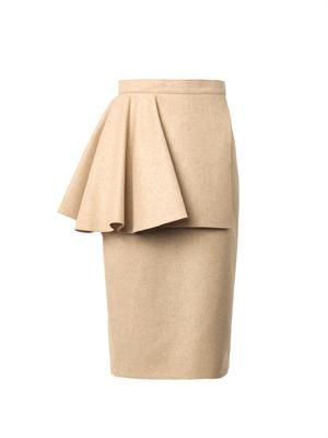 Calder felted wool skirt
