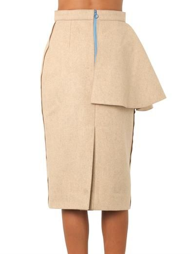 Roksanda Calder felted wool skirt