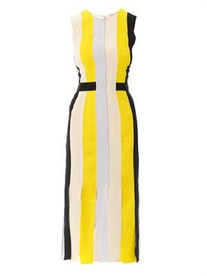 Wyatt pleated crepe dress