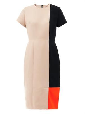 Elvyn colour-block dress