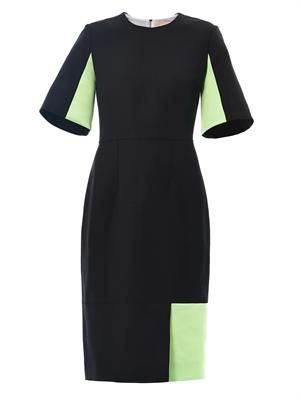 Ryedale textured-twill dress