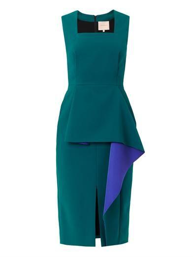 Roksanda Ada bonded-crepe colour-block dress
