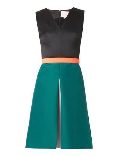 Roksanda Reiley bi-colour satin dress