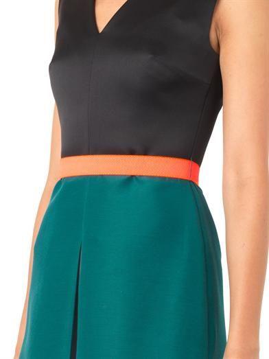 Roksanda Reiley bi-colour satin dress