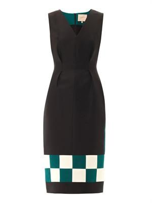 Harlton checkerboard dress