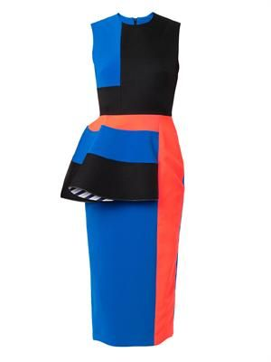 Adhara contrast-panel dress