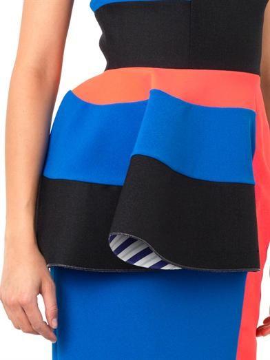 Roksanda Adhara contrast-panel dress